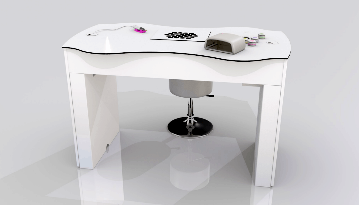 Nail Table FantasTisch Base With Suction For Nail Studios