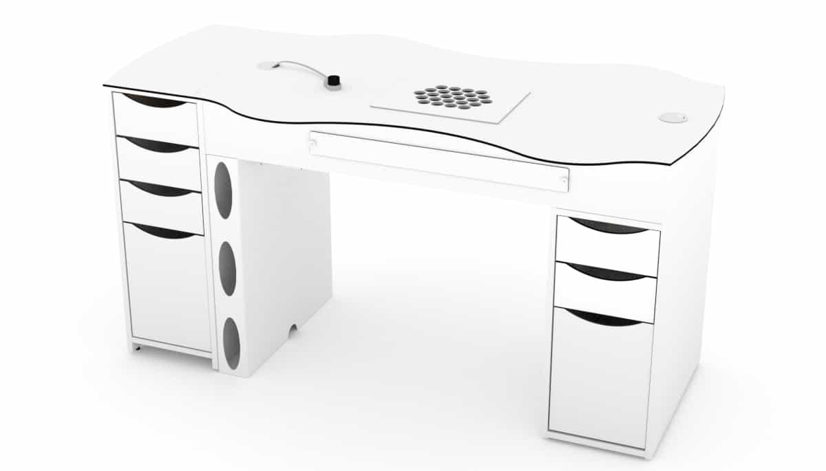 Table d'ongleries FantasTisch avec 4 tiroirs et 3 tiroirs
