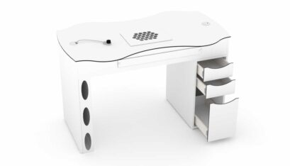 Nail table RomanTisch with dust extractor for nail studios