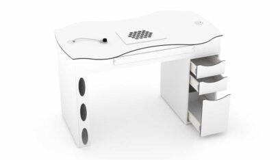 Tavolo per manicure FantasTisch con cassettiera multicassetti a 3 cassetti