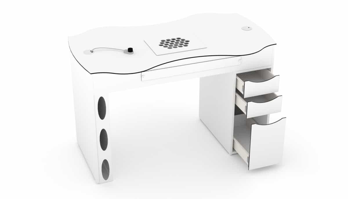 Table d'ongleries FantasTisch avec 3 tiroirs