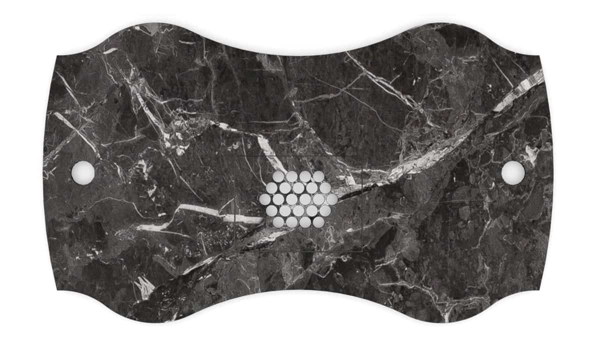 Nail table table top FantasTisch Color Dark / black marble for nail salons