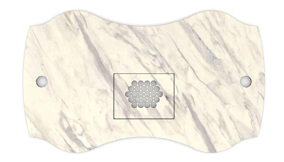Nail table top Fantastic color marble bright for nail salons