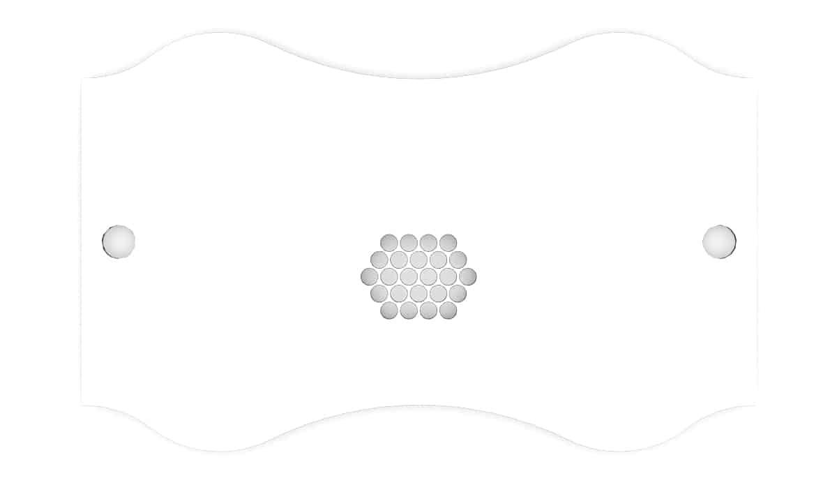 Nageltisch RomanTisch Tischplatte Form geschwungen, Seiten gerade