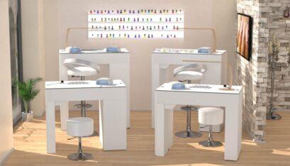 Tavolo per manicure Nailbar con estrattore di polvere A400