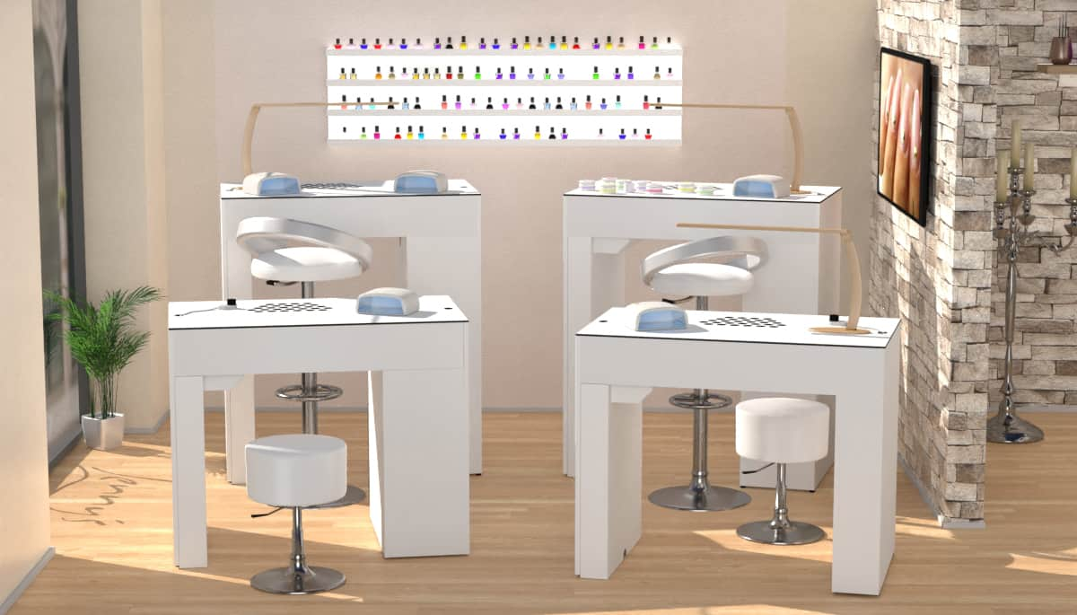 Table D'onglerie Nailbar Avec Aspiration A400