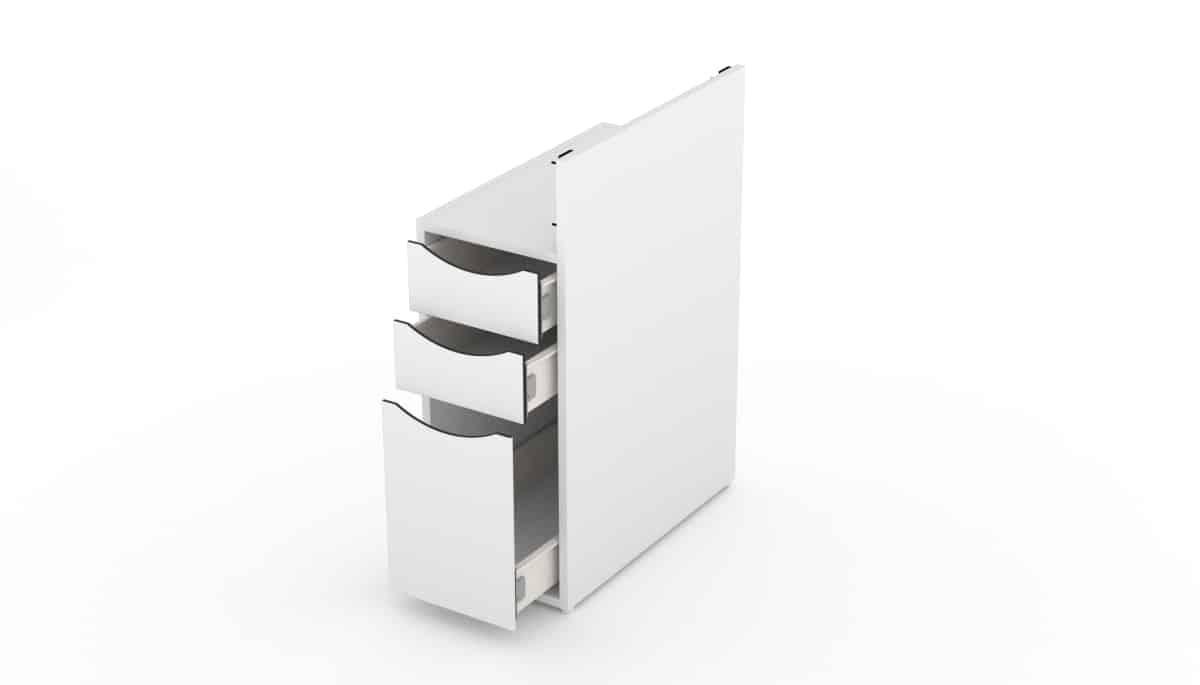 3er Anbauschrank Schubladenblock für FantasTisch für Nagelstudios