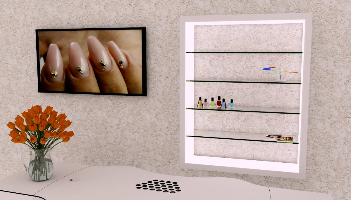 Nagellackregal Vertikal Für Nagelstudios