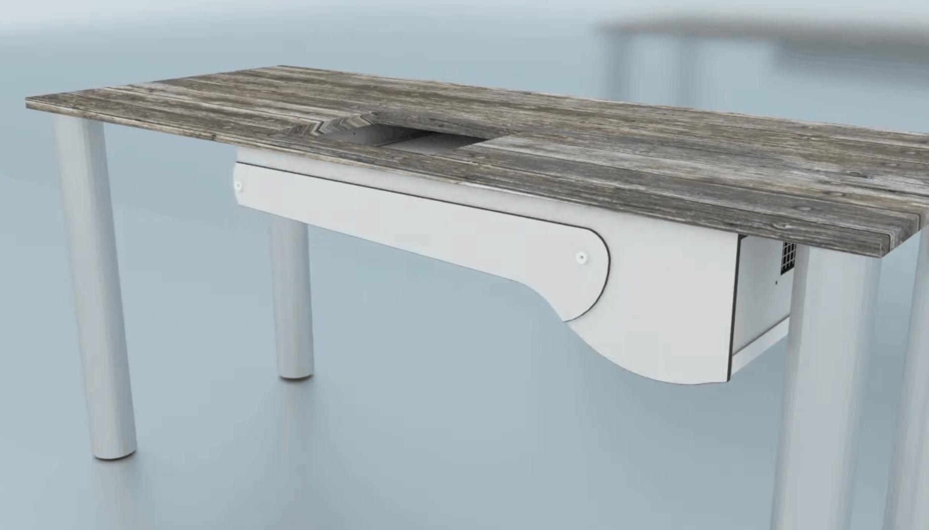Einbau Absaugung L500 in einen schon bestehenden Tisch