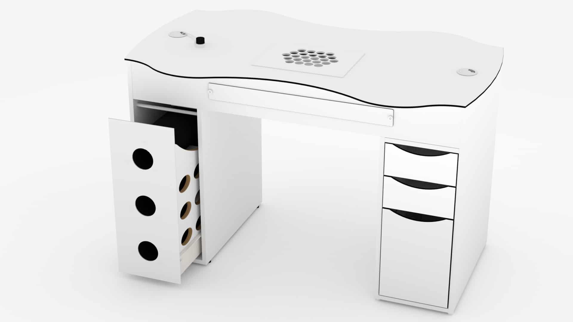 Table d'onglerie FantasTisch avec aspiration et filtre à charbon actif